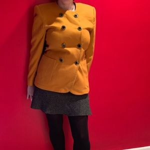 Vintage Yellow Woman's Blazer, Large and in Charge